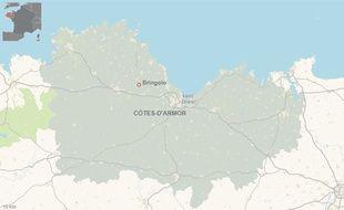 L'accident s'est produit ce vendredi matin à Bringolo dans les Côtes-d'Armor.