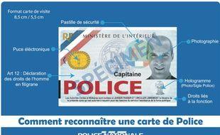 Les caractéristiques d'une vraie carte Police.