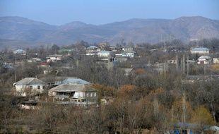 Une vue du village d'Alibeyli en Azerbaïdjan le 17 février 2015