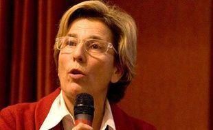 Marie-Noële Lienemann lors d'une réunion sur la crise financière à Paris, le 4 décembre 2008.