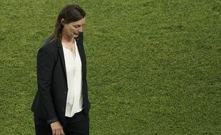 Corinne Diacre après l'élimination de la France en quarts de finale de la Coupe du monde.