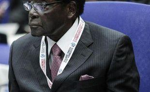 Le président du Zimbabwe Robert Mugabe lors d'une session de l'ONU à Vienne, le 3 novembre 2014