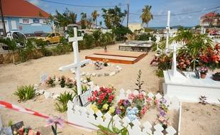 Tombe de Johnny Hallyday à Saint-Barthelemy
