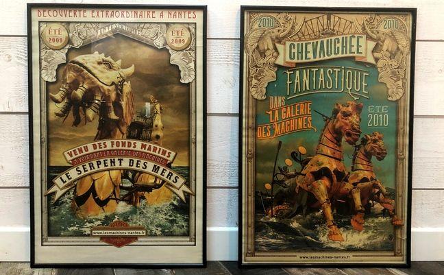 Des affiches des Machines de l'île signées Stéphan Muntaner.
