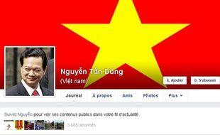 Capture d'écran de la page Facebook du Premier ministre vietnamien Nguyen Tan Dung