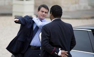 Manuel Valls à son arrivée à l'Elysée le 4 avril 2014 à Paris