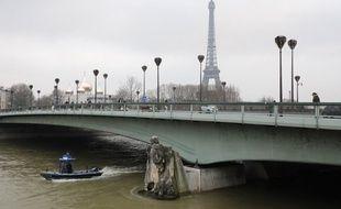 La Seine déborde à Paris.