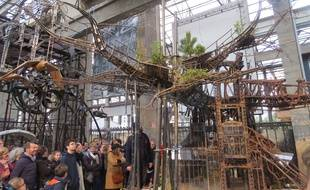 La maquette du projet d'Arbre aux hérons, dans la Galerie des machines.