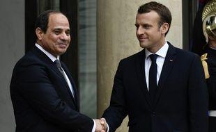 Emmanuel Macron a reçu à l'Elysée le président égyptien Abdel Fattah al-Sisi en octobre 2017.