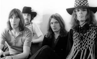 Le groupe Pink Floyd en 1969. Roger Waters, Nick Mason, David Gilmour et Rick Wright.