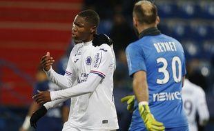 Le défenseur du TFC Bafodé Diakité (17 ans), dégoûté après avoir concédé le penalty vainqueur de Caen, le 18 décembre 2018.