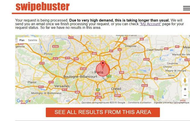 Capture d'écran du site Swipebust.