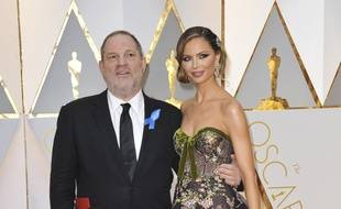 Le producteur Harvey Weinstein et la styliste Georgina Chapman