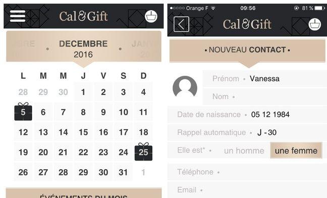 Le calendrier et la fiche contact avec le choix des dates de rappel.