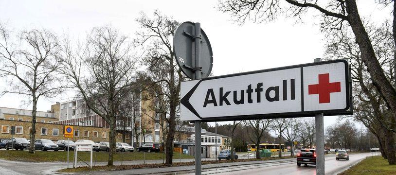 L'hôpital qui abrite le malade suspecté d'avoir contracté Ebola, à Enkoping en Suède.