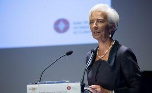 La directrice du FMI Christine Lagarde, à la Banque de France, à Paris, le 12 janvier 2016.