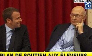 Emmanuel Macron et Michel Sapin