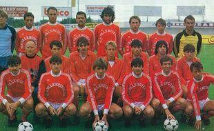 L'équipe de Valenciennes en 1985