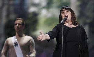 Lisa Angell lors d'une répétition à Vienne le 22 mai 2015 avant la finale de l'Eurovision