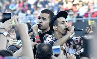 Bigflo et Oli en concert aux Francofolies de La Rochelle, le 14 juillet 2016.