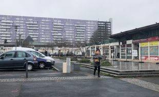 Quartier des Dervallières à Nantes, le 13 janvier 2021