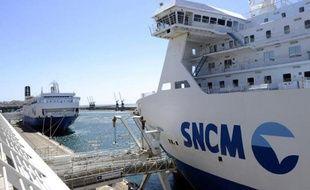 Un ferry de la SNCM le 20 mai 2015 à Marseille