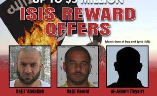 Amir Mohamad Abdel Rahmane al-Maoula al-Salbi (gauche) serait le nouveau dirigeant de Daesh.