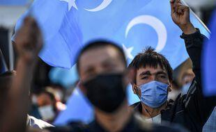 Manifestation en soutien aux Ouighours