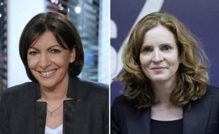Montage de deux portraits d'archives de Anne Hidalgo le 29 janvier 2014 à Paris, et de Nathalie Kosciusko-Morizet le 6 janvier 2014 à Paris