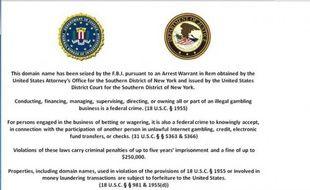 Trois sites de poker en ligne ont été bloqués par le FBI le 15 avril 2011.