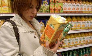 Illustration: les produits bio dans les supermarchés.