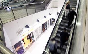 Illustration d'une station de métro de la ligne A, à Rennes.