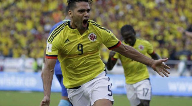 Radamel Falcao a enfin marqué avec la Colombie.  – Ricardo Mazalan/AP/SIPA