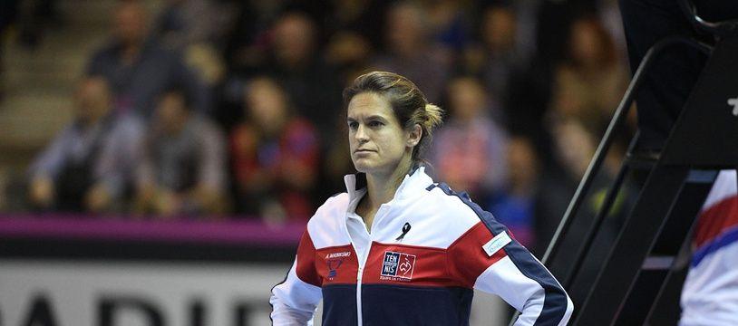 Amélie Mauresmo lors de la finale de la Fed Cup