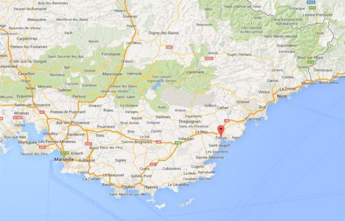Capture d'écran d'une google map représentant Fréjus. –
