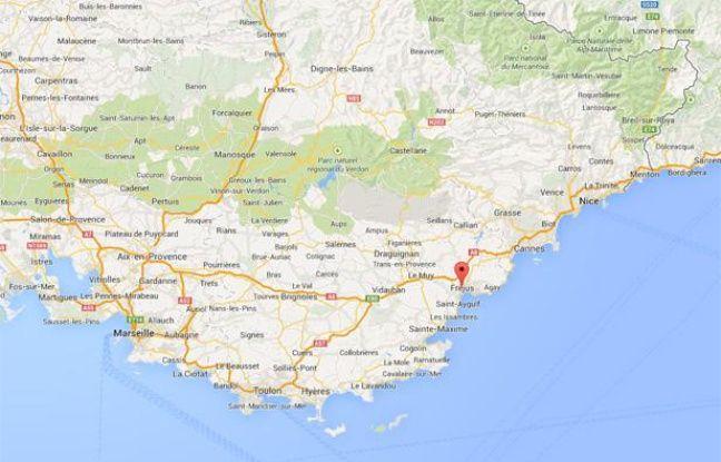 Capture d'écran d'une google map représentant Fréjus.