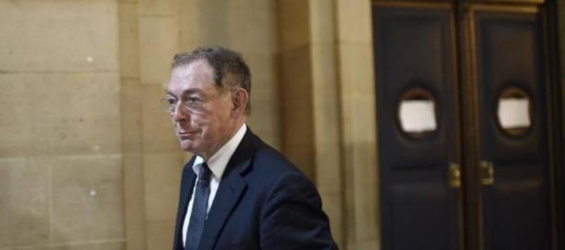 Noël Forgeard, l'ancien co-président du groupe EADS, au Palais de justice à Paris, le 3 octobre 2014