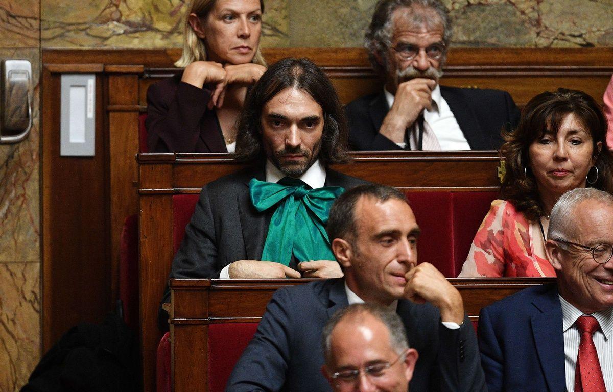 Cédric Villani et d'autres députés LREM à l'Assemblée.  – PDN/SIPA