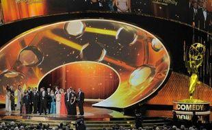L'équipe de «Modern Family» posant lors des Emmy Awards, le 18 septembre 2011, à Los Angeles.