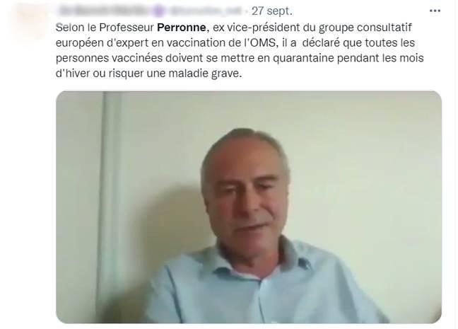 Une vidéo virale du Pr Perronne donne raison raison aux antivaccin.