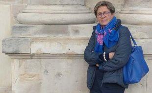 Reims, le 16 octobre 2014. Viviane Lambert se bat pour que son fils, Vincent, soit maintenu en vie.