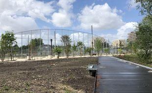 Les espaces verts publics du quartier Belvédère vont être livrés en premier, d'ici un mois environ.