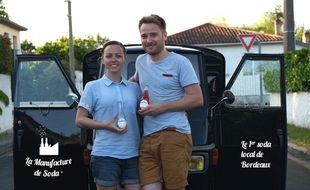 François Delmas Saint Hilaire et Marion Gaudicheau ont crée leur société de production de soda.