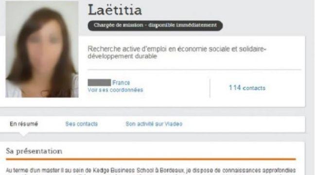 Gilles Payet analyse le profil Viadeo de Laëtitia