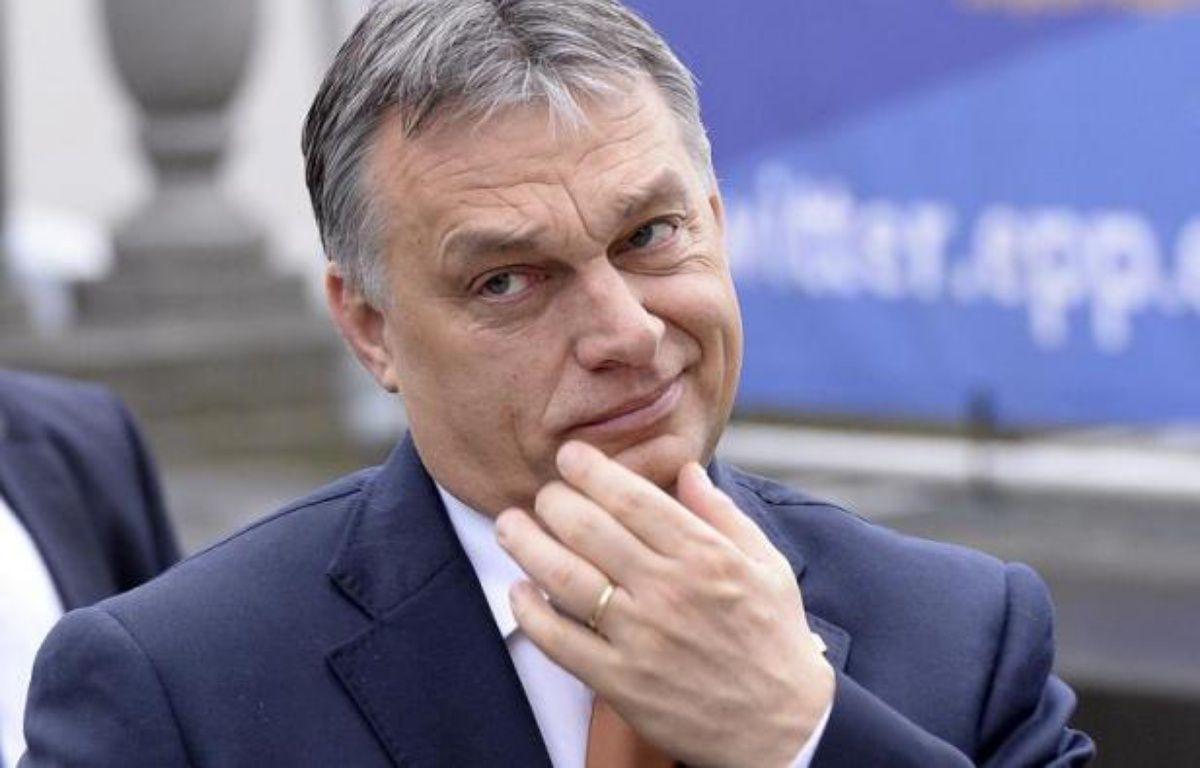 Le Premier ministre hongrois Viktor Orban à Bruxelles le 19 mars 2015 – Thierry Charlier AFP