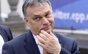 Le Premier ministre hongrois Viktor Orban à Bruxelles le 19 mars 2015