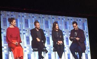 L'équipe de Star Wars - Les derniers Jedi à la conférence
