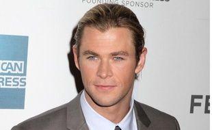 Chris Hemsworth, héros du blockbuster The Avengers, le 28 avril 2012.