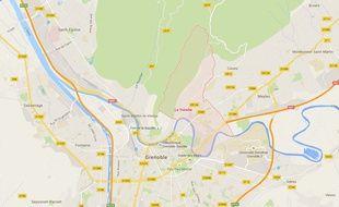 La commune de La Tronche dans le département de l'Isère.