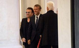 Bono avait déjà été reçu par le couple Macron en juillet 2017.